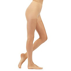 Debenhams - Pack of three nude 15 Denier gloss look tights