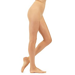 Debenhams - Pack of three natural 15 Denier gloss look tights