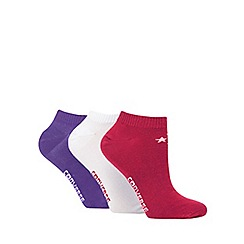 Converse - Pack of three purple trainer socks