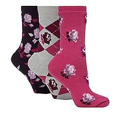 Jennifer Anderton - Pack of three pink thermal socks