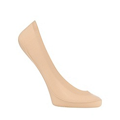 The Collection - Beige seamless footsie socks