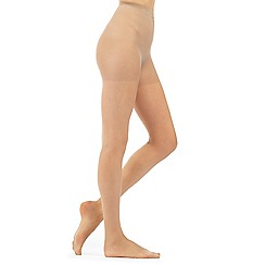 Debenhams - Natural sheer light support tights