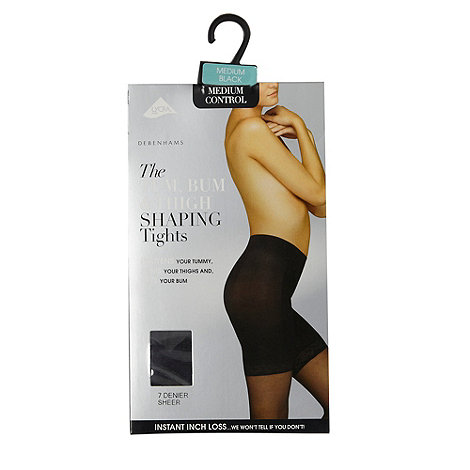 Debenhams - Black 7D tum, bum and thigh shaping tights