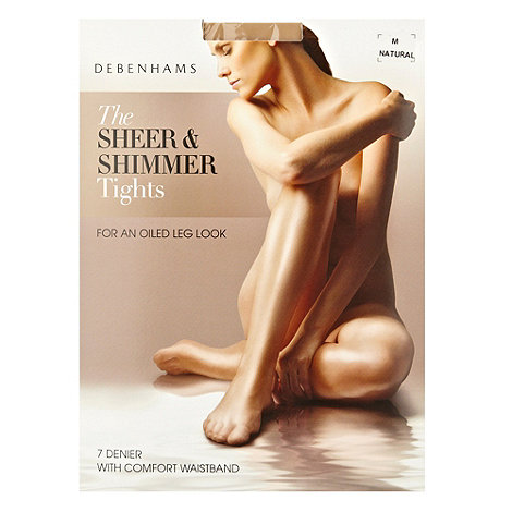 Debenhams - Natural sheer and shimmer 7D tights