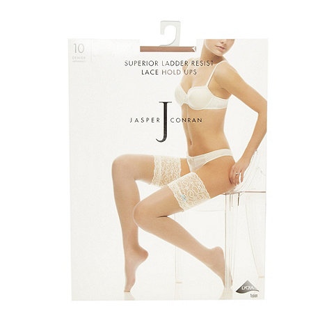 J by Jasper Conran - Designer natural superior ladder resist lace hold ups