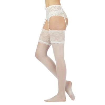 Ivory bridal stockings