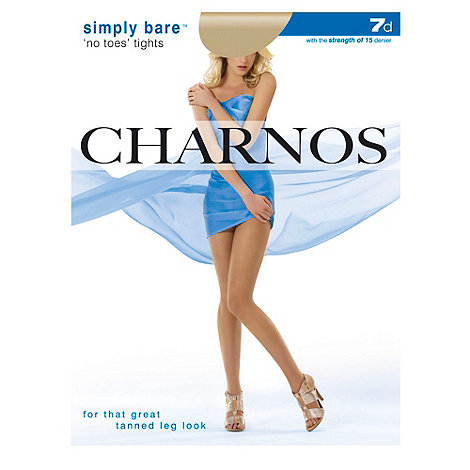 Charnos - Natural Simply Bare+ No Toes+ tights