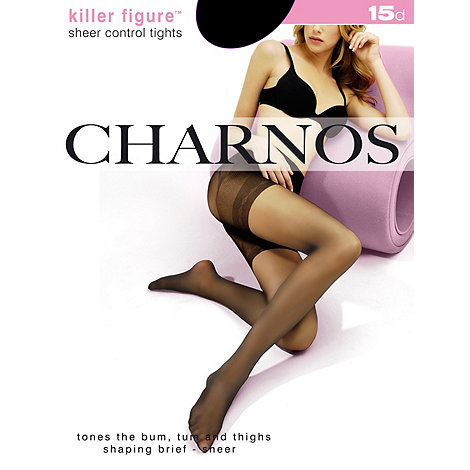 Charnos - Sheer 15D Control Black Tights