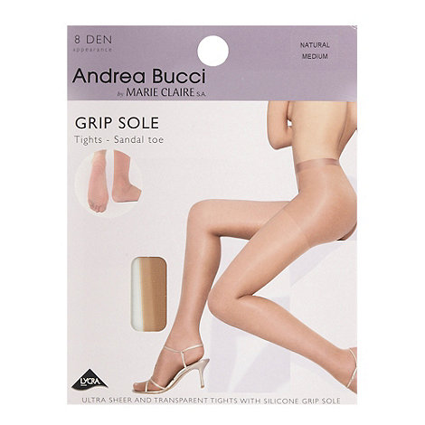Andrea Bucci - Natural 8D sheer grip sole sandal toe tights