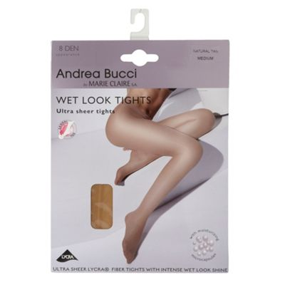 Natural Wet Look 8 denier tights