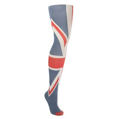 Blue Rule Britannia Union Jack tights