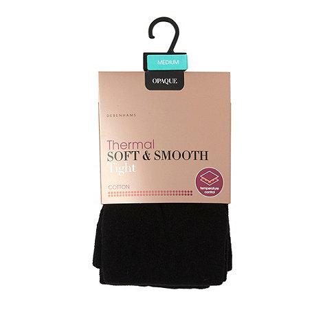 Debenhams - Black thermal soft and smooth tights