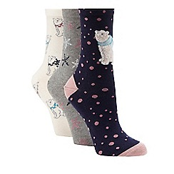The Collection - Pack of three assorted printed socks