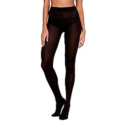 The Collection - Black 80 denier opaque medium high leg shaping tights