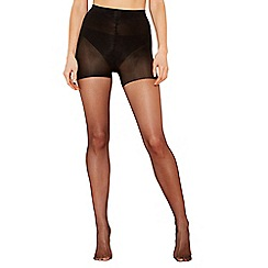 The Collection - Pack of 2 black 15 denier light control support tights