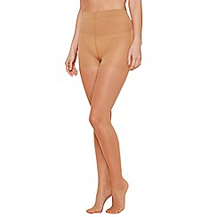 The Collection - Pack of two nude 15 Denier light control tights