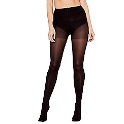The Collection - Pack of 2 black 60 denier opaque light control support tights