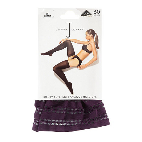 J by Jasper Conran - Purple 60D opaque luxury supersoft hold ups