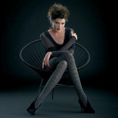 Blue Gemma sheer patterned tights