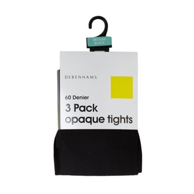 Pack of three black 60D opaque tights