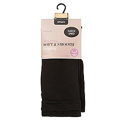Debenhams - Black opaque soft and smooth thermal legging