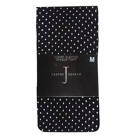 J by Jasper Conran - Black opaque pelerine spot tights