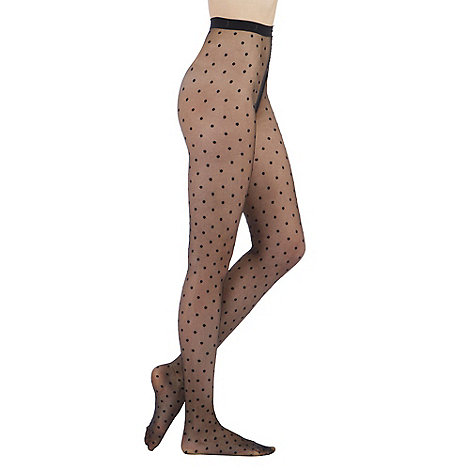 J by Jasper Conran - Black sheer spot tights
