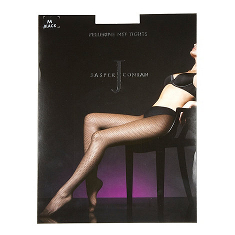 J by Jasper Conran - Black sheer pellerine net tights