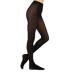 J by Jasper Conran - Black 100 denier opaque cashmere blend tights