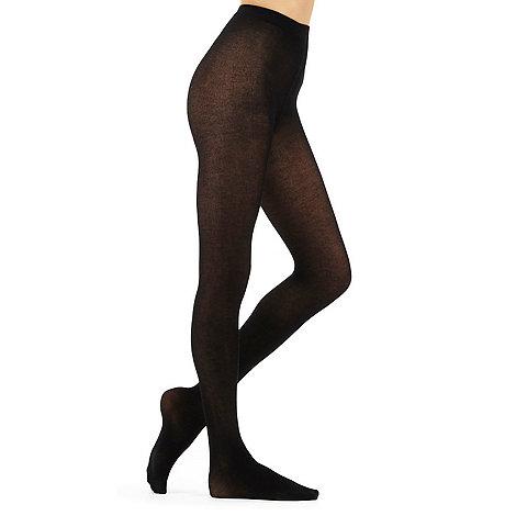 J by Jasper Conran - Black 100D opaque cashmere blend tights
