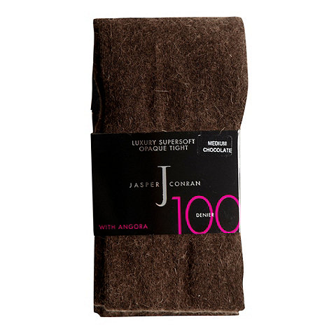 J by Jasper Conran - Brown 100D opaque angora blend tights