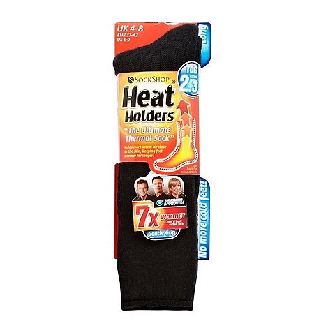 Heat Holders - Black long knitted thermal socks