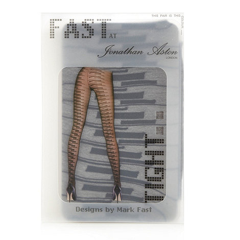 Jonathan Aston - Black sheer piano design tights