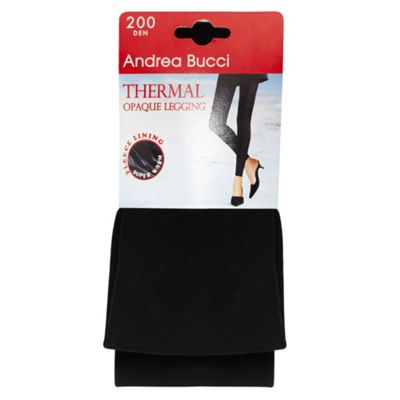 Black thermal opaque leggings