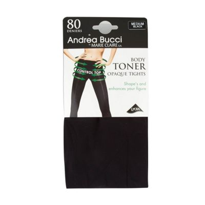 Black 80 Denier opaque body toner tights