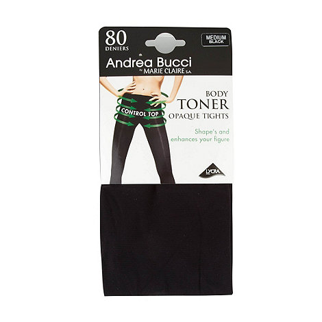 Andrea Bucci - Black 80D opaque bodytoner tights
