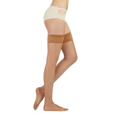 Designer natural sheer 7 denier ladder resistant hold ups