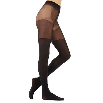 Black 80 denier friction resistant tights