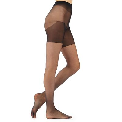 Black 10 denier friction resistant tights