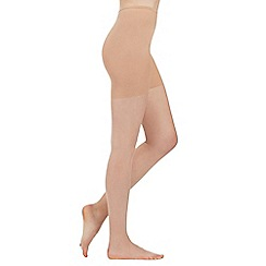 Debenhams - Natural 10 Denier 'Naturally Curvy' matte tights