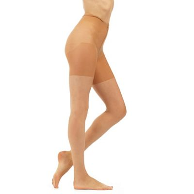 Natural 10 denier friction resistant tights