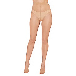 Debenhams - Nude sheer non slip 7 Denier tights