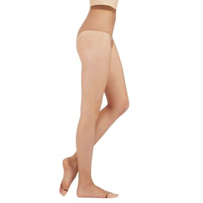 Bronze 7 denier open toed tights