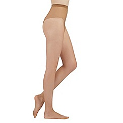 Debenhams - Olive 7 Denier sheer tights with comfort waistband