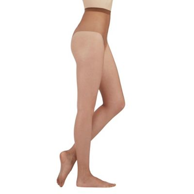 Bronze 7 denier non slip sole tights