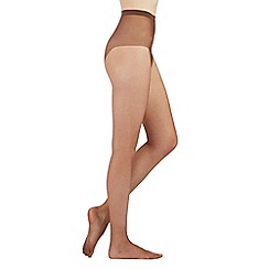 Debenhams - Brown 7 Denier sheer non slip sole tights