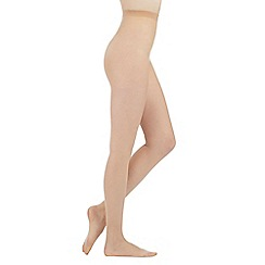 Debenhams - Natural 7 denier moisturising support tights