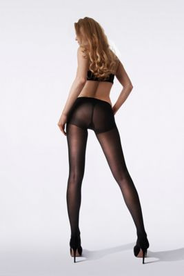 Black 30D opaque firm support tights