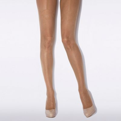 Natural floral mock suspender floral spot tights