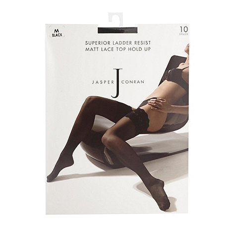 J by Jasper Conran - Designer black 10D ladder resist hold ups